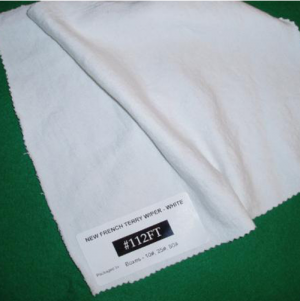 New White Cotton French Terry Mill-End Rags