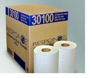 Response White Roll Towel