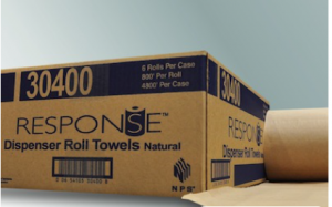 Response 1-Ply Natural Roll Towel