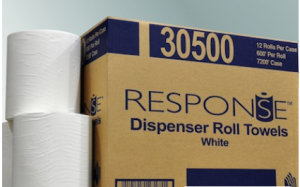 Response 1-Ply White Roll Towel