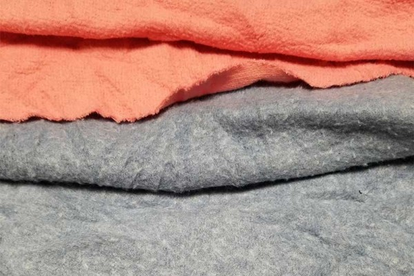 reclaimed colored sweatshirt rags